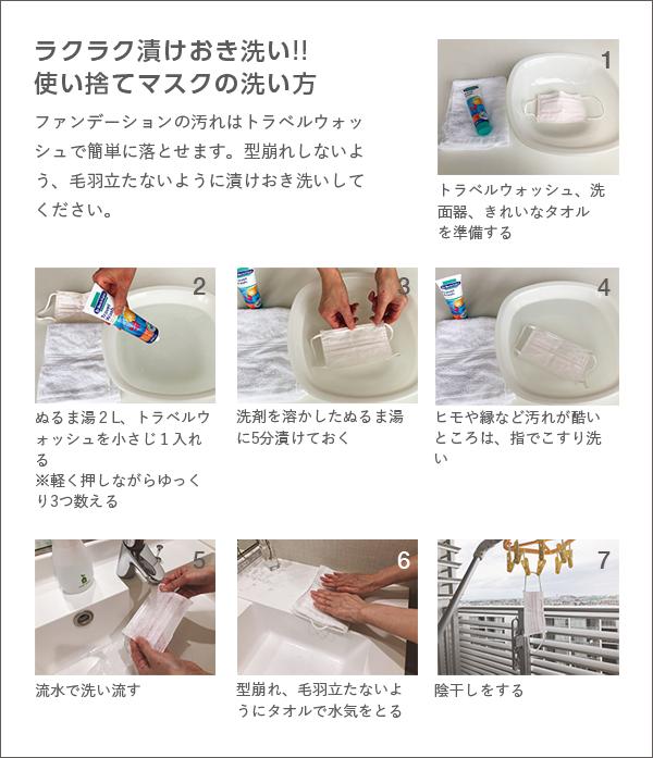 洗濯 方法 マスク