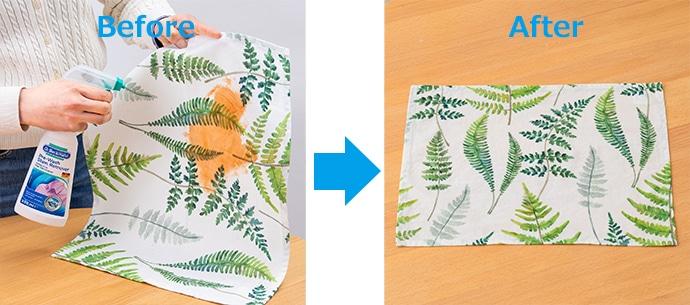 テーブルクロスやシーツなどの大きめな汚れにも便利